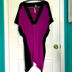 3X Purple & Black dress/tunic